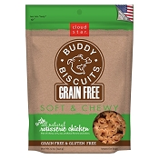 Cloud Star Grain-Free Soft & Chewy Buddy Biscuits Rotisserie Chicken Flavor Dog Treats
