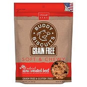 Cloud Star Grain-Free Soft & Chewy Buddy Biscuits Slow Roasted Beef Flavor Dog Treats