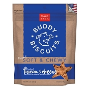 Cloud Star Soft & Chewy Buddy Biscuits Bacon & Cheese Flavor Dog Treats