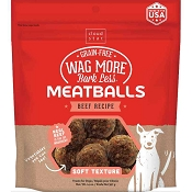 Cloud Star Wag More Bark Less Beef Recipe Meatballs Grain-Free Dog Treats, 14-oz bag