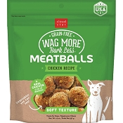 Cloud Star Wag More Bark Less Chicken Recipe Meatballs Grain-Free Dog Treats, 14-oz bag