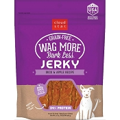 Cloud Star Wag More Bark Less Duck & Apple Recipe Grain-Free Jerky Dog Treats, 14-oz bag