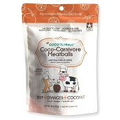 Cocotherapy Coco-Carnivore Meatballs Beef, Oranges & Coconut Recipe Freeze-Dried Dog Treats