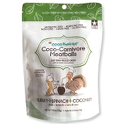 Cocotherapy Coco-Carnivore Meatballs Turkey, Spinach & Coconut Recipe Freeze-Dried Dog Treats