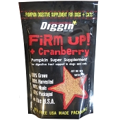 Diggin Your Dog Firm Up! Pumpkin Plus Cranberry Digestive Supplement for Dogs