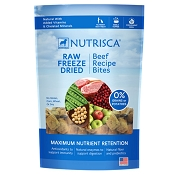 Dogswell Nutrisca Grain-Free Beef Recipe Bites Freeze-Dried Dog Food, 5 Ounces