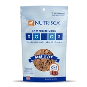 Dogswell Nutrisca Solos Beef Liver Freeze-Dried Dog Treats