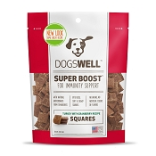 Dogswell Super Boost Squares Turkey with Cranberry Recipe Dog Treats