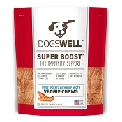 Dogswell Super Boost Sweet Potato & Beef Broth Veggie Chews Dog Treats, 15 Ounces