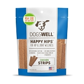Dogswell Happy Hips Chicken Jerky Strips Dog Treats, 12 Ounces