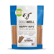 Dogswell Happy Hips Duck Jerky Strips Dog Treats, 12 Ounces