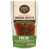 Earth Animal Fresh Breath USA Chicken Jerky Dog Treats, 8 Ounces