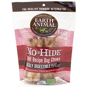 Earth Animal No-Hide Beef Chews Dog Treats, 4