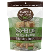 Earth Animal No-Hide Pork Chews Dog Treats, 4