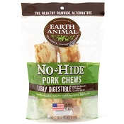 Earth Animal No-Hide Pork Chews Dog Treats, 7
