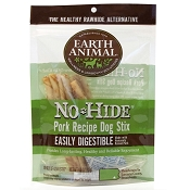 Earth Animal No Hide Pork Recipe Stix Dog Treats, 10 Pack