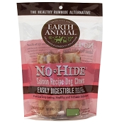 Earth Animal No-Hide Salmon Chews Dog Treats, 4