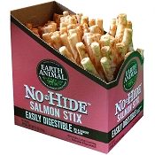 Earth Animal No Hide Salmon Stix Dog Treats, 90 Count Box