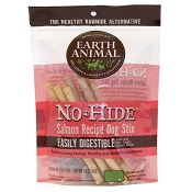 Earth Animal No-Hide Salmon Recipe Stix Dog Treats, 10 Pack