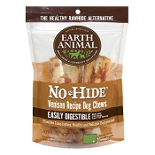 Earth Animal No-Hide Venison Chews Dog Treats, 4