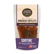 Earth Animal SOOTHE Chicken Cutlets Digestion Support Jerky Dog Treats, 8-oz Bag