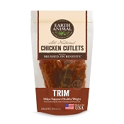Earth Animal TRIM Chicken Cutlets Healthy Weight Support Jerky Dog Treats, 8-oz Bag