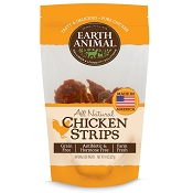 Earth Animal USA Chicken Jerky Strips Dog Treats, 8-oz Bag