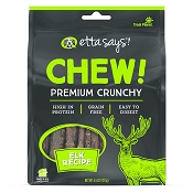 Etta Says! CHEW! Premium Crunchy Elk Recipe Dog Treats, 4.5-oz Bag