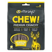 Etta Says! CHEW! Premium Crunchy Venison Recipe Dog Treats, 4.5-oz Bag