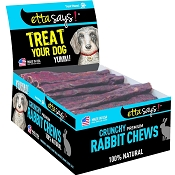 Etta Says! Premium Crunchy Rabbit Chews Dog Treats, 7