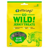 Etta Says! Go Wild Jerky Boar Recipe Dog Treats, 6-oz Bag