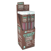 Etta Says! YUMM Sticks Turkey Recipe Dog Treats, Case of 24 Meat Sticks