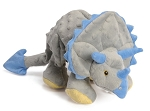 GoDog Triceratops Dinosaur with Chew Guard Dog Toy, Large