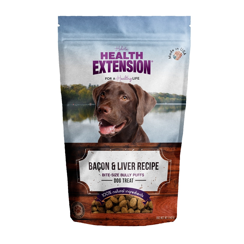 Health Extension Bully Puffs Bacon and Liver Recipe Dog Treats