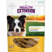Health Extension Cheese Flavor Dental Bones Dog Treats, Medium