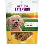 Health Extension Cheese Flavor Dental Bones Dog Treats, Small