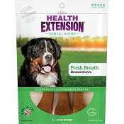 Health Extension Fresh Breath Dental Bones Dog Treats, Large