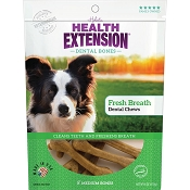 Health Extension Fresh Breath Dental Bones Dog Treats, Medium