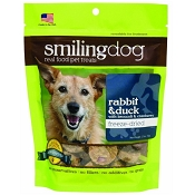Herbsmith Smiling Dog Rabbit & Duck Freeze-Dried Dog Treats, 2.5-oz bag