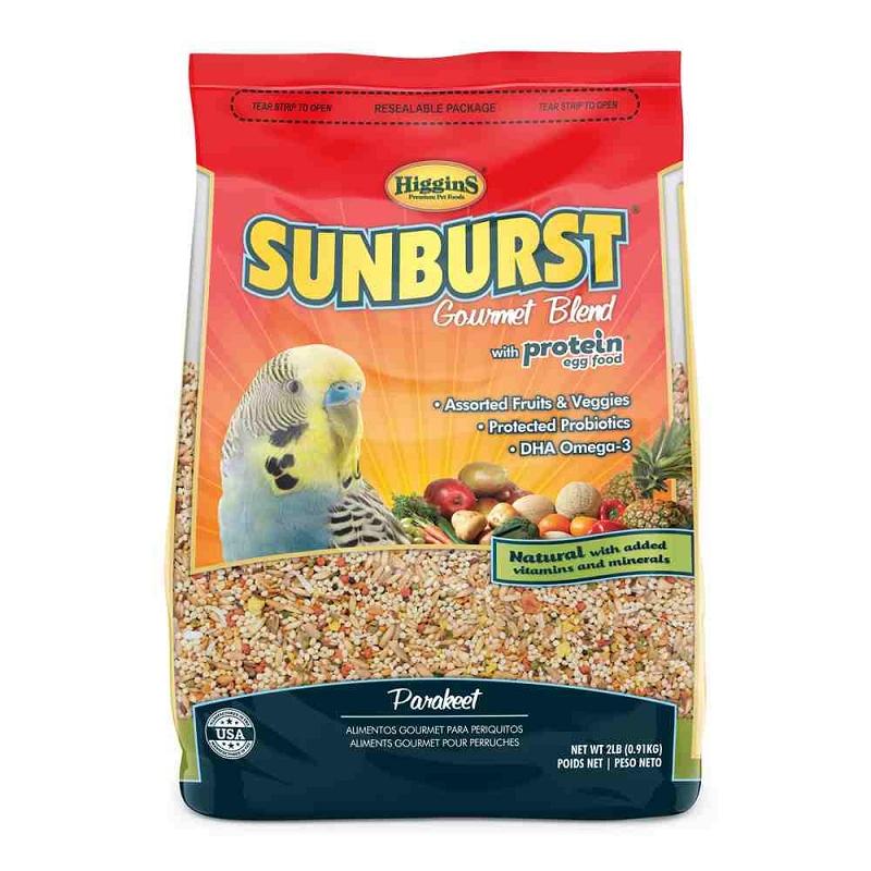Higgins Sunburst Gourmet Blend Parakeet Food 2 Lb Bag