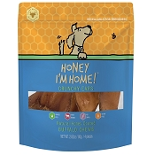 Honey I'm Home Crunchy Water Buffalo Ears Dog Treats, 4 Ears