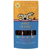 Honey I'm Home Honey Coated Buffalo Jerky Strips Dog Treats, 3.5-oz Bag