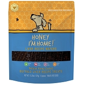 Honey I'm Home Honey Coated Buffalo Liver Recipe Wafers Dog Treats