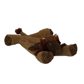 HuggleHounds Buffalo Flattie Dog Toy, Large