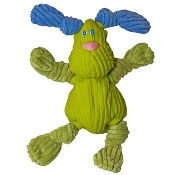 HuggleHounds Ruff Tex Bugsy Lime Green Dog Toy, Mini