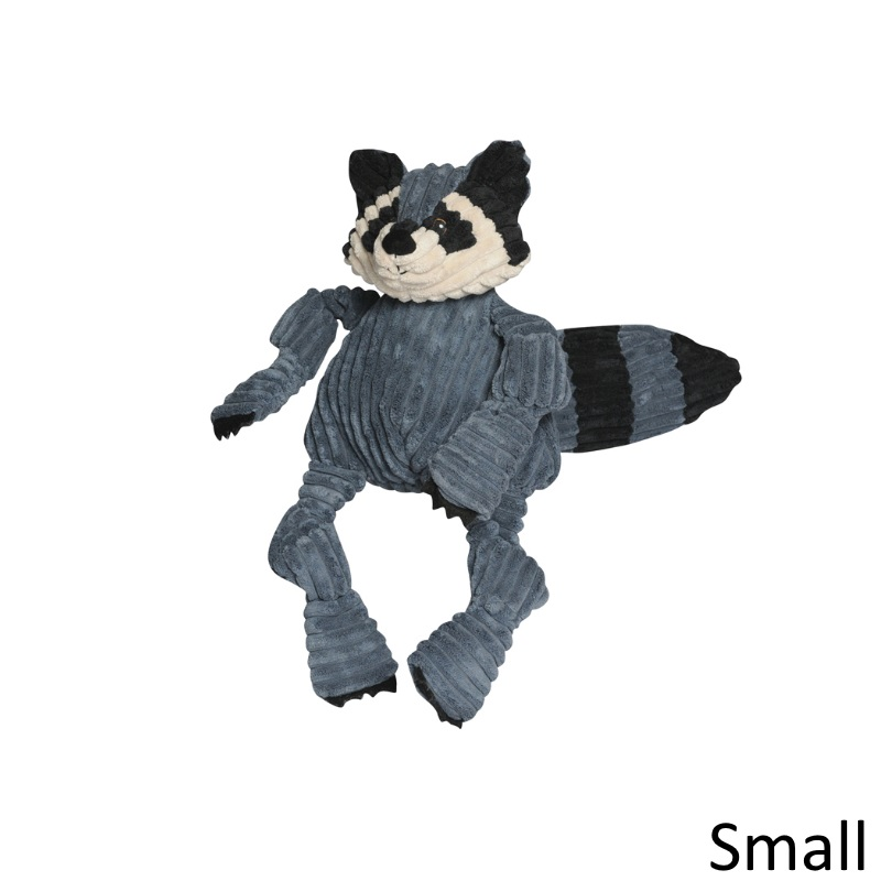 HuggleHounds Knotties Raccoon Dog Toy, Small