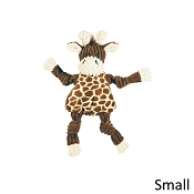 HuggleHounds Knotties Plush Giraffe Dog Toy, Small