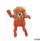 HuggleHounds Knotties Plush Lion Dog Toy, Small