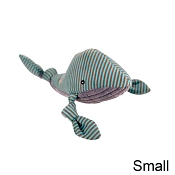 HuggleHounds Knotties Plush Whale Dog Toy, Small