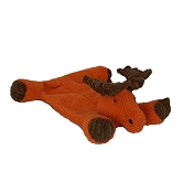 HuggleHounds Moose Flattie Dog Toy, Large